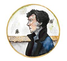 Sherlock watercolor Photographic Print