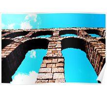 The Roman Aqueduct, Segovia Poster