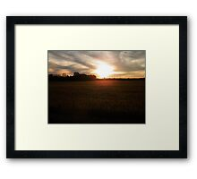 Visions of the Drought Framed Print