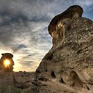 Hoodoo Badlands Alberta Canada Writing on Stone Park by pictureguy