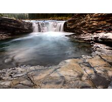 Sheep River Falls Allberta Canada morning sunrise Photographic Print