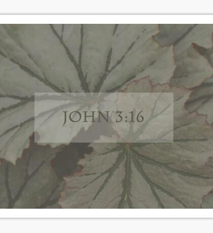 John 3:16 Over Leaves  Sticker