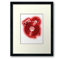 Music (R)Evolution [red] Framed Print