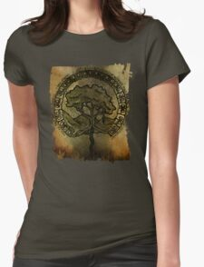 celtic tree of life with runes  Womens Fitted T-Shirt