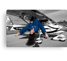 Model and plane  Canvas Print