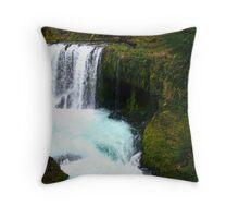 Kayak at Spirit Falls Throw Pillow