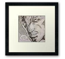 Comic book strip Framed Print