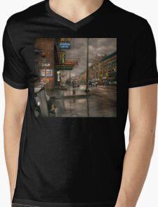 City - Amsterdam NY -  Call 666 for Taxi 1941 Mens V-Neck T-Shirt