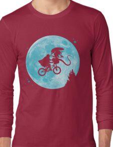 E.T. vs Aliens - transparent Long Sleeve T-Shirt