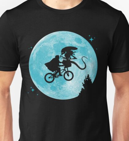 E.T. vs Aliens - transparent Unisex T-Shirt