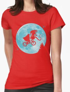 E.T. vs Aliens - transparent Womens Fitted T-Shirt