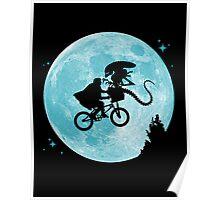 E.T. vs Aliens poster Poster