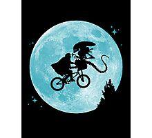 E.T. vs Aliens poster Photographic Print