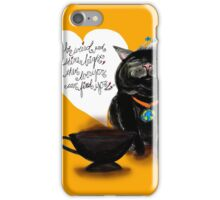 WHAT MY COFFEE SAYS TO ME NOVEMBER 7 2015 iPhone Case/Skin
