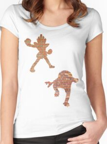 Hitmonlee and Hitmonchan Women's Fitted Scoop T-Shirt