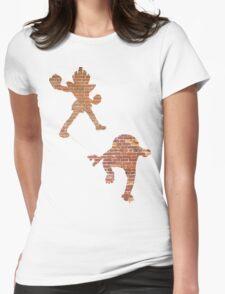 Hitmonlee and Hitmonchan Womens Fitted T-Shirt