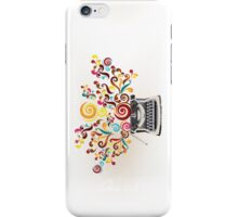 Creativity - typewriter with abstract swirls iPhone Case/Skin