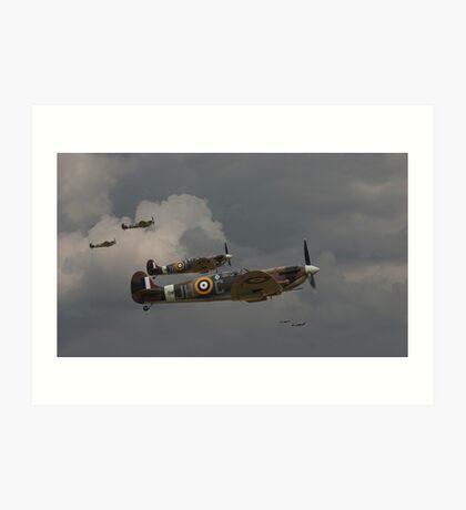 317 'Polish' Squadron Spitfires Art Print