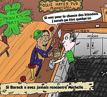 Caricature Obama Saint Patrick Chance Irlandais by Binary-Options