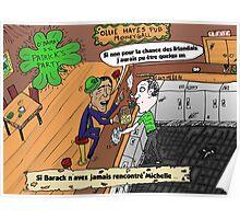 Caricature Obama Saint Patrick Chance Irlandais Poster