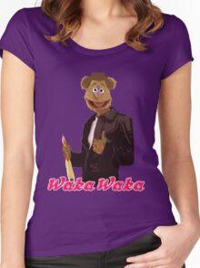 Fonzie Bear Waka Waka Women's Fitted Scoop T-Shirt