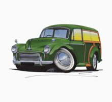 Morris Minor Traveller Green by Richard Yeomans