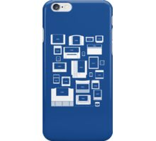 History of Video Game Cartridges 1977-2011 (iPhone case blue) iPhone Case/Skin