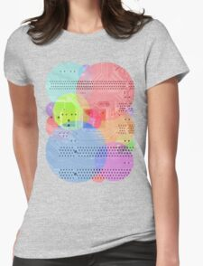 Techy Circles Womens Fitted T-Shirt