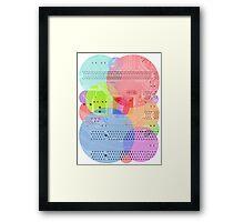 Techy Circles Framed Print