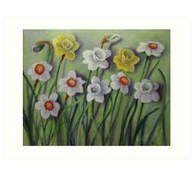 Daffodils Swaying Art Print