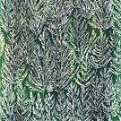 Snow Pines(Light Green) by SuburbanBirdDesigns By Kanika Mathur
