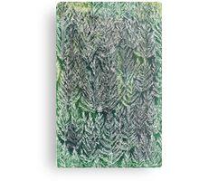 Snow Pines(Light Green) Metal Print