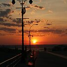 Coney Island Boardwalk Sunset by KarenDinan