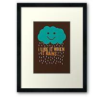 I like it when it rains Framed Print