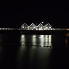 Busselton Jetty Western Australia, By night. by SezziT