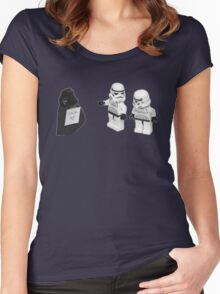 STORMTROOPERS KICK ME STAR WARS   Women's Fitted Scoop T-Shirt