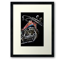 Evel Knievel Harley XLCH Chopper Engine Framed Print