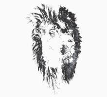 africa lion, lion black shirt Kids Tee