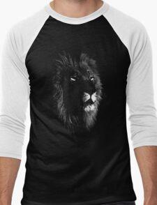 africa lion, lion black shirt Men's Baseball ¾ T-Shirt