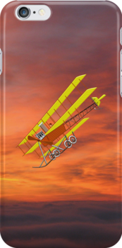 Roe IV Triplane 1910 - iPhone case by Dennis Melling