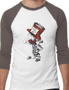 Scottish Mad Hatter T-Shirt Men's Baseball ¾ T-Shirt