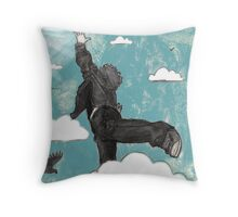 Bird Boy can Fly Throw Pillow
