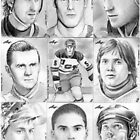 "Leaf ""Best of Hockey"" sketchcards by wu-wei"