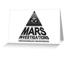 Mars investigation Greeting Card