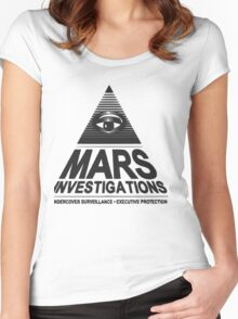 Mars investigation Women's Fitted Scoop T-Shirt