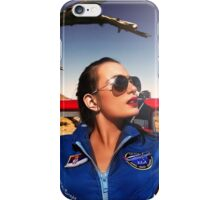 Model and plane  iPhone Case/Skin