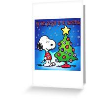 snoopy tree 2 Greeting Card