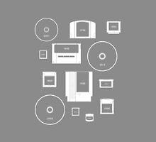 History of Nintendo Media 1989-2012 (iPhone case Grey) by Jarmez