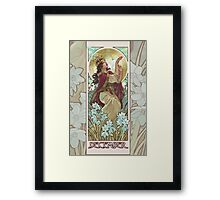 Lady of December Framed Print