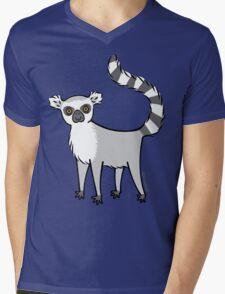 Ring Tailed Lemur Mens V-Neck T-Shirt